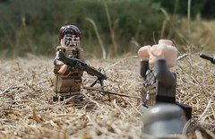 A shepherd captures a wolf (jackleedham@hotmail.co.uk) Tags: ww2 lego