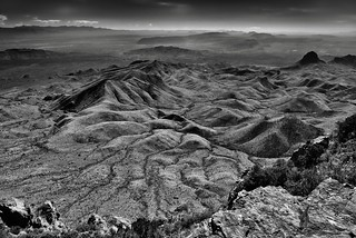 Folds of the Earth (Black & White, Big Bend National Park)