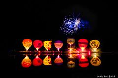 Hulsbeek Nightglow (-+Niels+-) Tags: ballooning colourful nightlights night flames reflection hotairballoons