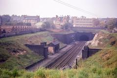 Site of Carrington Station, Nottingham, looking north on 8th October 1966. (Pam & Bryan) Tags: railwaystation carrington nottingham