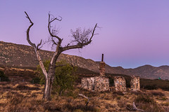 Ruins of the Buckman homestead along Old Highway 80 During Blue Hour (slworking2) Tags: buckman sunset colorful sky california buckmansprings ruins urbex highway80