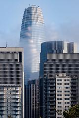Shiny building (satoshikom) Tags: canoneos6dmarkii canonef70200mmf4lisusm salesforce financialdistrict sanfrancisco downtown weekend fog