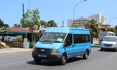 Local Transit. (steve vallance coach and bus) Tags: kzf910 fordtransit zenonbuses panagos larnaca cyprus