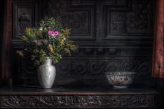 Chastleton House flowers (Darwinsgift) Tags: chastleton house national trust flowers still life nikkor pce 85mm f28