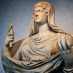Roman portrait sculpture of Faustina the Younger, wife of the Roman emperor Marcus Aurelius and mother of Commodus 2nd century CE thumbnail