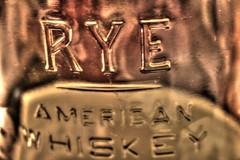 Rye American Whiskey Glass (Spebak) Tags: spebak canon canondslr canon70d bottle glass macro bulleit rye whiskey ryewhiskey
