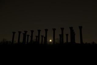 Moonset at the National Capitol Columns