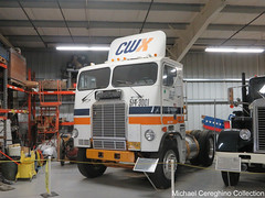 Con-Way Western Express(CWX) 1983 Freightliner, Truck# 514-3001 (Michael Cereghino (Avsfan118)) Tags: 2018 brooks truck show convention conway western express cwx freightliner coe cab over cabover engine daycab trucking semi bobtail tractor singlel axle