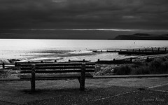 Quite Early One Morning (James 1949) Tags: dawn northsea bench redcar neengland groynes beachseascape england unitedkingdom gb