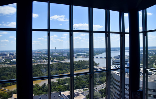 View East Toward Washington (DC) from the CEBTower Observation Deck Rosslyn (VA) August 2018