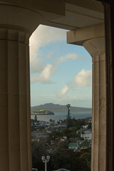 To Rangitoto from the museum (imajane) Tags: 2018 auckland janemonaghan newzealand 20180720museum8248 view rangitoto sea