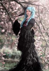 Linda aka QTCos (Roy Coumans Photography) Tags: elfia haarzuilens cosplay cosplaygirl model dress blackdress nikond750 nikkor85mmf18 primelens fantasy fantasyfaire fantasyfest