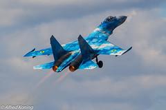 Su-27 Flanker, 58, Oekraïne (Alfred Koning) Tags: 58blue belgianairforcedays2018 ebblkleinebrogel locatie oekraïne su27flanker su27p vliegtuigen