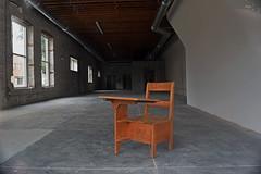 Study Hard (slammerking) Tags: desk alone empty abandoned wood windows