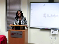 Guest Speaker (CityCollegeMIA) Tags: speaker college business women citycollege miami coralgables