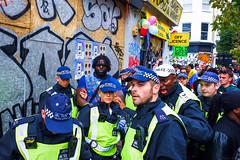 Notting Hill Carnival (gaziola) Tags: man arrest carnival notting hill questioning decision division happy sad dancing prancing street london