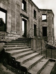 Downhill House (5) (Feldore) Tags: downhill house abandoned mansion northern ireland irish empty ruin ruined derelict feldore mchugh em1 olympus 1240mm steps staircase facade sepia old