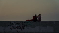 a short story about sunset (ignacy50.pl) Tags: people sunshine sunset evening summer mood moodlight outdoor breakwater poland reportage