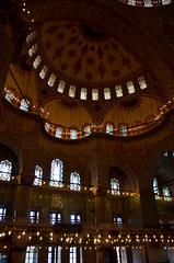Blue Mosque Tiles & Lights (itchypaws) Tags: interior 2018 istanbul turkey europe holiday vacation sultan ahmed ahmet mosque camii blue inside lights