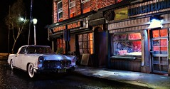 Luncheonette Night 2 (gpholtz) Tags: diorama miniatures 118 diecast 1956 continental mkii