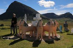Ljónagosbrunnurinn (hó) Tags: brautarholt selárdalur arnarfjörður vestfirðir westfjords sculpture statues alhambra mountains landscape iceland samúeljónsson art august 2018 cloud kristján hrafnkell fountain lions