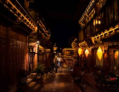 Shangri-la (Rod Waddington) Tags: china chinese yunnan shangrila tibetan old town nightphotography night traditional culture cultural ethnic ethnicity lights street streetphotography architecture people urban
