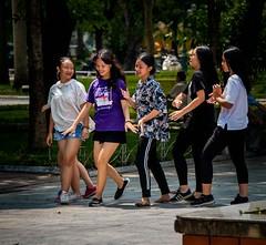 Park Dancers (Rod Waddington) Tags: vietnam vietnamese hanoi park dancers girls candid group dancing outdoor people streetphotography culture cultural