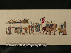 Panel 3 (Stamford Bridge Tapestry Project) Tags: tapestry stamfordbridge battleofstamfordbridge 1066 embroidery