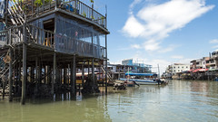 Living on Water (syf22) Tags: fishing village stilt wooden house living accommodation home water watercourse building tanka community fisher structure