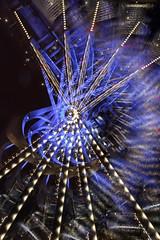 Blue bridge Nautilus Shape (vanessa_macdonald) Tags: longexposure nightphotography vancouverisland canada britishcolumbia vanisle victoriabc victoria bc camerarotation lights longexpo bridge blue abstract reflection vortex warped trippy portal alteredreality surreal