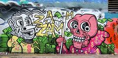 graffiti in Amsterdam (wojofoto) Tags: amsterdam nederland netherland holland graffiti streetart wojofoto wolfgangjosten ndsm zamzam chill