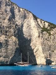 Gorgeous in Greece (markshephard800) Tags: greece zante boat sea cliffs cove water