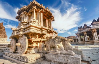 Stone Chariot, Vittala Temple, Hampi Karnataka