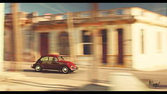 VW Beetle (at1503) Tags: car motion blur red blue colourful colours colors urban buildings city cuba vw beetle vwbeetle originalbeetle germancar classic icon iconic retro vintage 1960s warmtones sunlight granturismo gtsport granturismosport motorsport racing game gaming ps4
