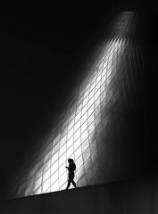 Hot Shop Walk (llabe) Tags: monotone blackandwhite silhouette hotshopcone museumofglass mog tacoma washington nikon d750