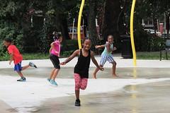IMG_1976 (Philadelphia Parks & Recreation) Tags: carroll park dedication ribbon cutting playground play kids summer summertime laugh spray sprayground sprinkler jungle gym running laughing run playing new upgrades