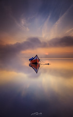 Ria de Aveiro, Portugal (paulosilva3) Tags: progreyfiltersusa canon manfrotto lowepro lake sunrise boat moliceiro colors blue water sun ria de aveiro portugal