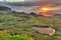 sunrise 6.01 am, Quiraing, Trotternish,  Isle of Skye, Scotland, UK (Janusz W.) Tags: isleofskye isle sky scotland schottland scotia scozia szkocja loch landscape pentax sunrise quiraing highland clouds uk