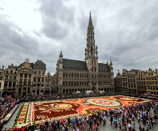 Flower carpet in Brussels, edition 2018
