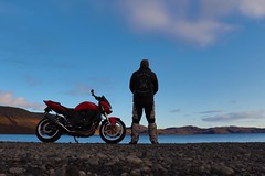 Chill (Karl Sesar..Hafnarfjörður Iceland) Tags: water sky motorbike bike kawasaki iceland nature ísland
