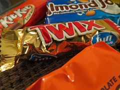 Variety Of Chocolate. (dccradio) Tags: lumberton nc northcarolina robesoncounty indoor indoors inside chocolate candy kitkat almondjoy twix reesespeanutbuttercup reeses canon powershot elph520hs coconut almond wafers candybar food eat snack junkfood sweet treat
