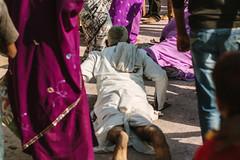 Prostrate Pilgrim at Holi, Vrindavan India (AdamCohn) Tags: adamcohn hindu india vrindavan holi pilgrim pilgrimage pilgrims होली