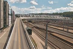 IMG_1970 - Oslo S area (ragnarfredrik) Tags: oslo oslos rails railway road bridge bro bru city buildings