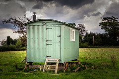 Shepherds hut (Jez22) Tags: hut house old shepherd rural traditional building tree rustic farming cabin outdoor green grass field corrugated steel metal copyright jeremysage kent england