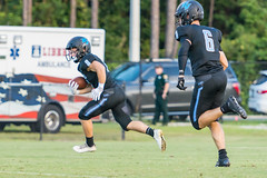 """PVHS v. Palatka-39 (mark.calvin33) Tags: football field sport ball """"high school"""" """"ponte vedra high pvhs block tackle rush run pass catch receiver blocker """"running quarterback fumble completion reception hike pitch snap """"friday night lights"""" fans stands kick """"end zone"""" """"nikon 2018 win athletics athletes """"night photography"""" """"sharks football"""" back d7100"""
