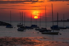 The Water's Been Waiting Long Enough (Anna Kwa) Tags: sunrise dawn sun silhouettes boats rockport wharf massachusetts usa annakwa nikon d750 7002000mmf28 my dreams moment always seeing heart soul throughmylens atlantic ocean life fate journey destiny haven thesea travel world