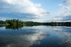 'Blue and Green' (Canadapt) Tags: lake shoreline clouds reflection island keefer canadapt
