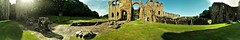 Panoramic the length of the nave (dir. E) of the whole western face of the ruins (eucharisto deo) Tags: furness abbey lakes lake lakes18 district cumbria lancashire monastery monastic ruins ruin dissolution henry viii cistercian panoramic panorama