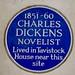 Charles Dickens Tavistock blue plaque
