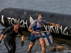 SO8A5607 (Risto Kuisma) Tags: canon finland finlande scandinavia outdoor race kilpailu viking lippu flag toughviking2018 water kasvomaalaus logo suomi helsinki happy life man woman wetclothes
